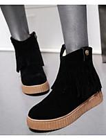 Feminino Sapatos Couro Ecológico Inverno Conforto Botas Para Casual Preto Bege Amarelo