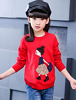 Girls' Patchwork Blouse,Cotton Spring Fall Long Sleeve