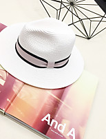 Women's Straw Straw Hat,Casual Solid Spring Summer