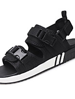 Men's Sandals Comfort Summer Fall Canvas Upstream Shoes Casual Dress Outdoor Black Under 1in