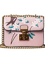 Women Bags All Seasons PU Shoulder Bag with Zipper for Event/Party Casual Outdoor Office & Career White Black Blushing Pink