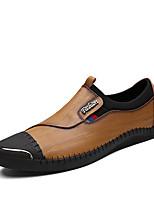 Для мужчин Мокасины и Свитер Удобная обувь Весна Осень Наппа Leather Повседневные Для вечеринки / ужина Комбинация материалов На плоской