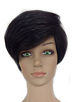 High Temperature Fiber Synthetic Wig Women Natrural Black 1B Color Short Straight Pixie Hair Wigs