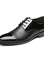 Men's Shoes Patent Leather Spring Summer Fall Winter Comfort Formal Shoes Oxfords Lace-up For Wedding Party & Evening Office & Career
