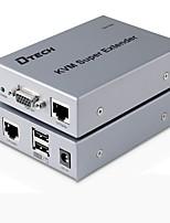 VGA USB Tipo B Interruptor, VGA USB Tipo B to VGA USB 2.0 RJ45 Interruptor Fêmea-Fêmea