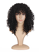 Top Selling Medium Long Afro Kinky Curly Black Synthetic Hair Wigs for Black Women Wig