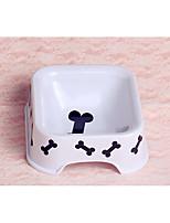 Dog Bowls & Water Bottles Pet Bowls & Feeding Portable White