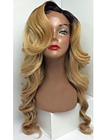 Hot Sale 9A T1B/27 Wave Style Glueless Lace Front Wigs With Baby Hair 100% Brazilian Virgin Hair Wigs for Black Woman