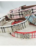 Collar Strobe/Flashing Bone Rhinestone PU Leather