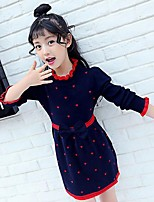 Girl's Striped Dress,Rayon Fall Winter Long Sleeve