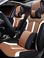 Car Seat Cushion Linen Leather Seat Cover Four General Seat Surrounded By Five Seat 2 Headrest 2 Waist By Giving The Wheel Sets Chocolate