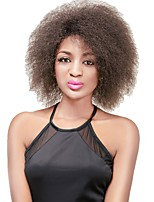Fashion Synthetic Wigs Brown Wigs Afro Kinky Straight Curly  Heat Resistant Hair Wigs for Women