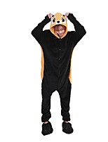 Kigurumi Pajamas Raccoon Leotard/Onesie Shoes Festival/Holiday Animal Sleepwear Halloween Fashion Embroidered Flannel Fabric Cosplay With Shoes