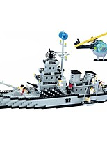 Building Blocks For Gift  Building Blocks Warship Plastics All Ages 6 Years Old and Above Toys PCS970