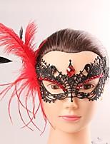 Europa y américa estilo elegante mujer negro de encaje mariposa cryastal máscara de borla máscara de disfraz femenina fiesta media máscara