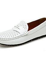 Для мужчин Мокасины и Свитер Удобная обувь Светодиодные подошвы Обувь для дайвинга Натуральная кожа Наппа Leather Кожа Лето ОсеньСвадьба