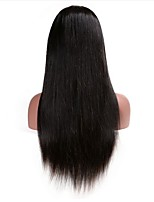 Straight 360 Lace Frontal Wigs 150% Density Human Hair Natural Color Brazilian Remy Hair For Black Women With Baby Hair