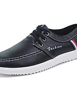 Для мужчин Кеды Удобная обувь Наппа Leather Весна Осень Шнуровка На плоской подошве Белый Черный Коричневый Менее 2,5 см