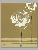 Ручная роспись Цветочные мотивы/ботанический Вертикальная,Художественный 1 панель Холст Hang-роспись маслом For Украшение дома
