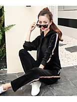 Long Sleeves Fitness, Running & Yoga Tracksuit for Cotton Black Red Green M L XL