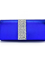 Women Bags All Seasons PU Evening Bag with Crystal/ Rhinestone for Wedding Event/Party Red Blushing Pink Light Gold Sliver Royal Blue