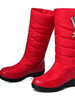 Women's Boots Comfort Winter PU Casual Red Blue 3in-3 3/4in