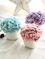 10inch Large Size 6 Heads Silk Polyester Carnation Tabletop Flower Artificial Flowers