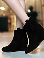 Damen Schuhe PU Herbst Winter Komfort Stiefel Für Normal Schwarz Grau Rot