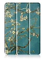 Padrão de pintura caixa de couro de três dobras com suporte para asus zenpad 10 z301mfl tablet de 10,1 polegadas