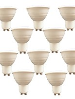 7W Focos LED 6 SMD 3030 580 lm Blanco Cálido Blanco V 10 piezas GU10