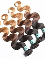 4 Bundles Malaysian Ombre Hair Body Wave Human Hair Weaves 100 Grams Per Bundles Color 1B/4/27