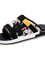 Men's Sandals Comfort Summer PU Outdoor Yellow Blue Flat