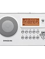 PR-D14USB Rádio portátil Radio FM Alto Falante Embutido Relogio Despertador Branco