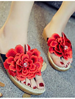 Women's Shoes Canvas Summer Comfort Slippers & Flip-Flops For Casual Red Blue Blushing Pink