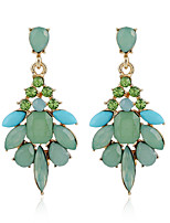 Women's Earrings Set Basic Geometric Vintage Rhinestone Emerald Alloy Jewelry For Gift Evening Party Stage Club