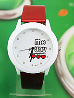 Жен. Модные часы Кварцевый Кожа Группа Красный