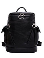 Women Bags All Seasons Cowhide Backpack with for Casual Black