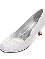 Women's Wedding Shoes Comfort Satin Spring Summer Wedding Party & Evening Dress Rhinestone Bowknot Flat HeelIvory Champagne Blue Ruby