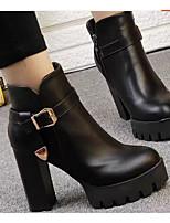 Damen High Heels Komfort PU Frühling Winter Normal Schwarz 10 - 12 cm