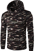 Men's Going out Casual/Daily Street chic Hoodie Print Hooded Micro-elastic Polyester Long Sleeve Fall Winter