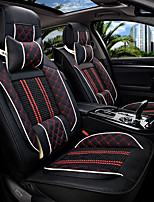 The New Car Seat Cushion Leather Seat Cover Four Seasons General Ice Surrounded By Five Family Car Seat Black And Red
