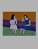 Ручная роспись Люди Горизонтальная,Художественный 1 панель Холст Hang-роспись маслом For Украшение дома