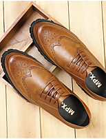 Men's Oxfords Comfort Spring Fall Cowhide Casual Light Brown Blue Black Under 1in