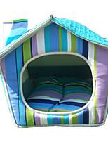 Собака Кровати Животные Коврики и подушки В полоску Синий