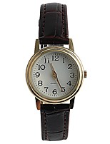 Women's Fashion Watch Wrist watch Japanese Quartz / PU Band Elegant Casual Brown