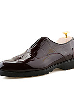 Men's Oxfords Comfort Fall Winter Leather Casual Office & Career Party & Evening Flat Heel Coffee Black Flat