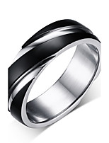 Men's Band Rings Vintage Simple  Titanium Steel Ring Jewelry For Wedding Daily Ceremony Stage Party