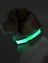 Collar Reflective LED Light Solid Terylene