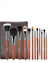 1set Makeup Brush Set Others Easy Carrying Multi-tool Easy to Carry Wood Men Face Men and Women Daily Eyes Lips Lip Health&Beauty General