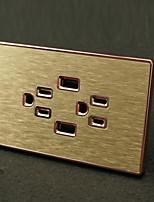 Электрические розетки Нержавеющая сталь С выходом USB-зарядного устройства 12*7*4.4